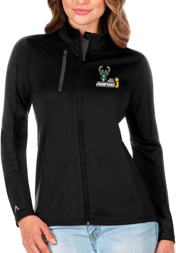 Antigua Women's 2021 NBA Champions Milwaukee Bucks Generation Black Full-Zip Jacket product image