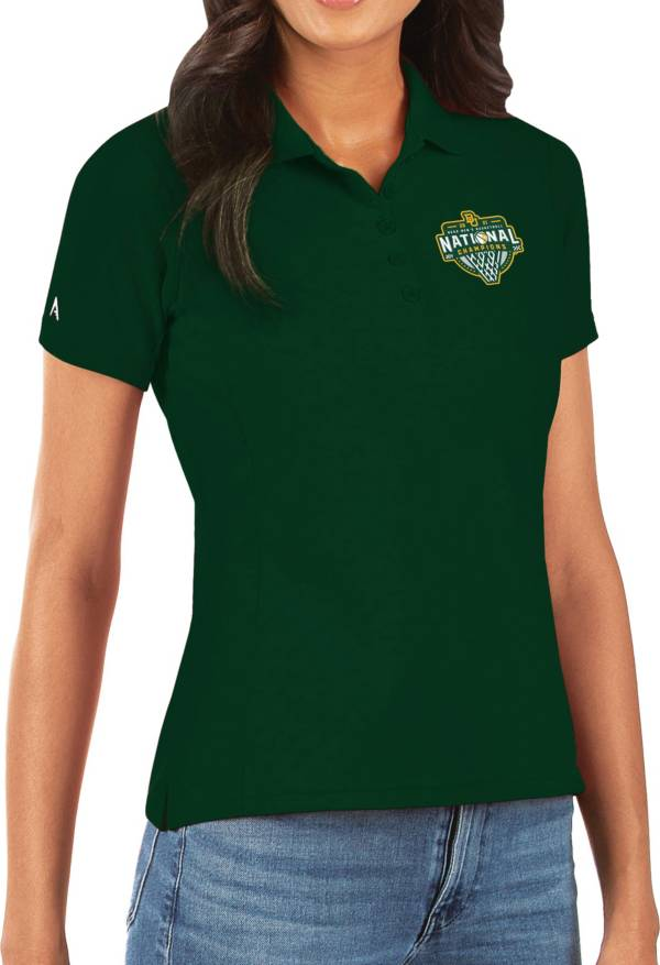 Antigua Women's Baylor Bears 2021 Men's Basketball National Champions Green Legacy Pique Polo product image