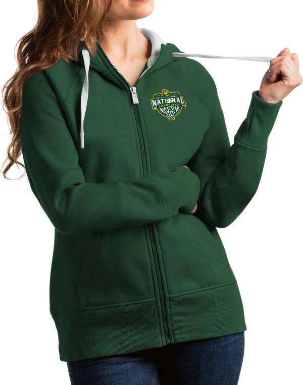 Antigua Women's Baylor Bears 2021 Men's Basketball National Champions Green Victory Full-Zip Hoodie product image