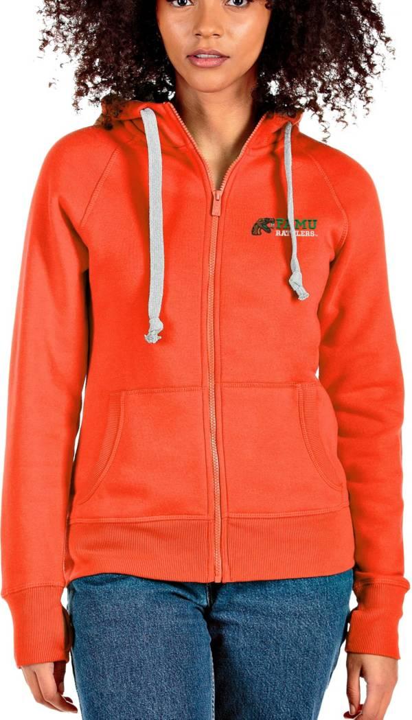 Antigua Women's Florida A&M Rattlers Orange Victory Full-Zip Hoodie product image
