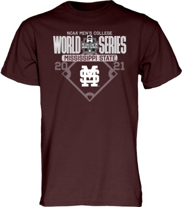 Blue 84 Men's Mississippi State Bulldogs Maroon 2021 Men's College World Series Footwork T-Shirt product image