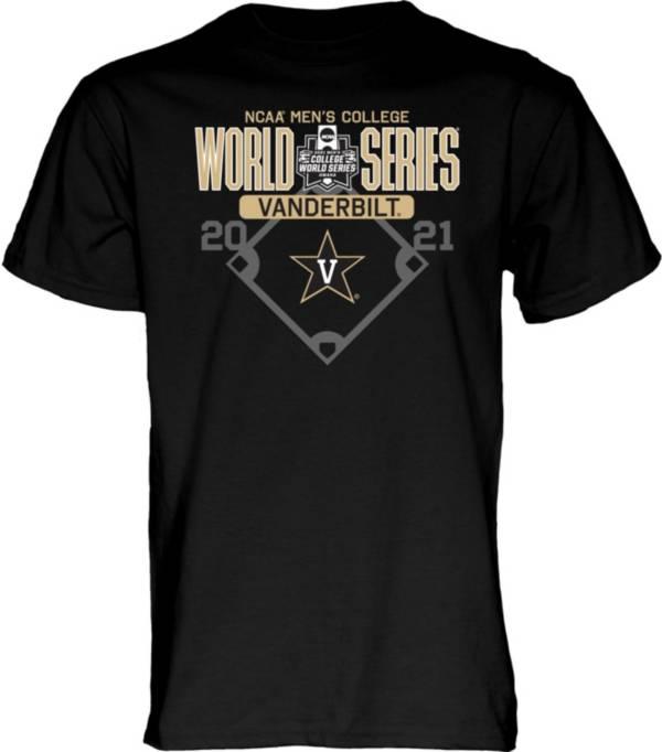 Blue 84 Men's Vanderbilt Commodores 2021 Men's College World Series Footwork Black T-Shirt product image