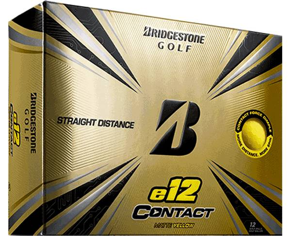 Bridgestone e12 CONTACT Matte Yellow Golf Balls product image