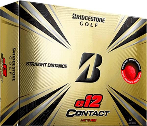 Bridgestone e12 CONTACT Matte Red Golf Balls product image