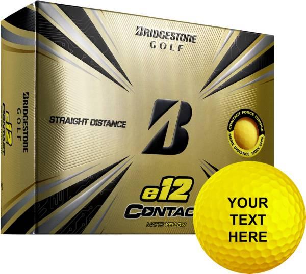 Bridgestone e12 CONTACT Matte Yellow Personalized Golf Balls product image