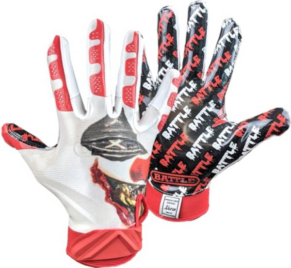 Battle Adult Clown Print Receiver Gloves product image