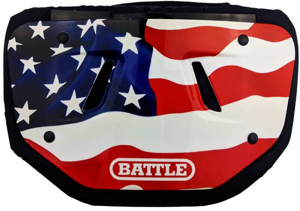 Battle Adult Chrome American Flag Football Back Plate product image