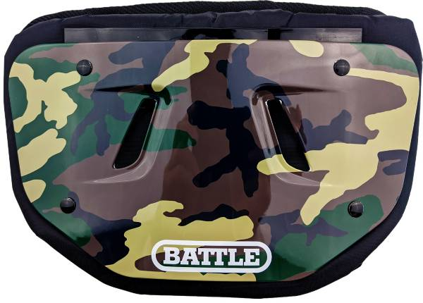 Battle Adult Chrome Green Camo Football Back Plate product image
