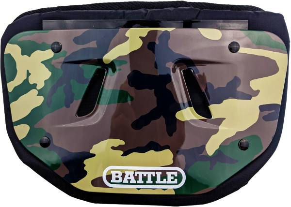 Battle Youth Chrome Green Camo Football Back Plate product image