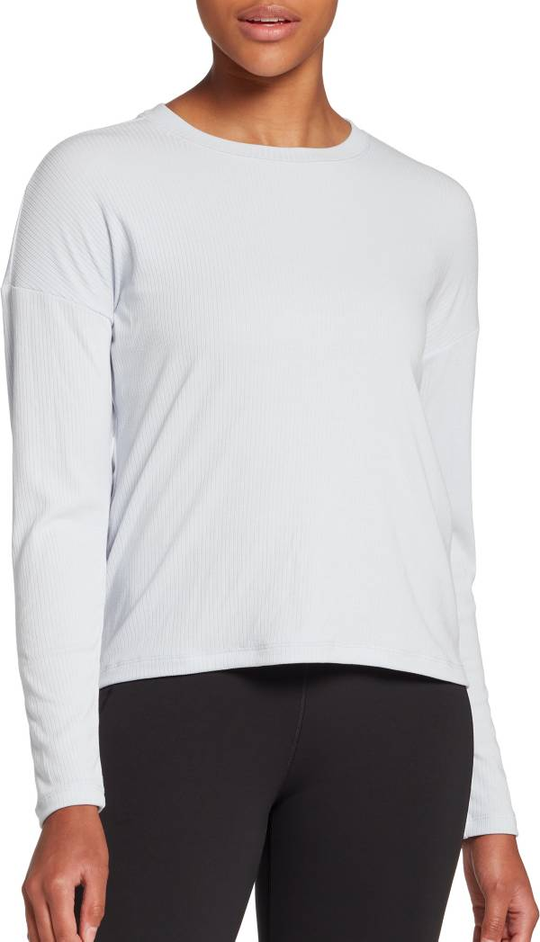 CALIA by Carrie Underwood Women's Boxy Rib Long Sleeve Top product image