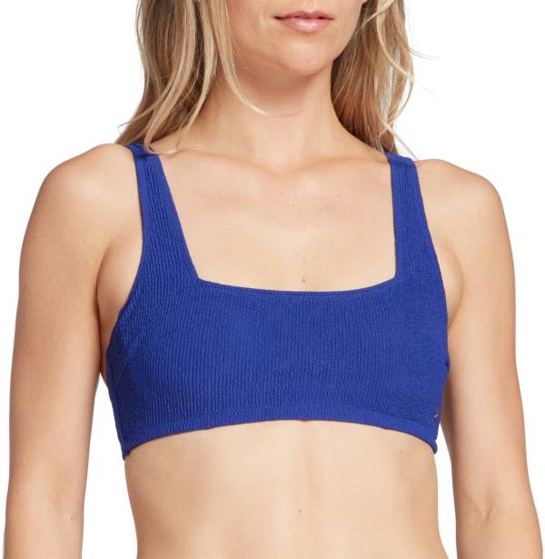 CALIA by Carrie Underwood Women's Square Neck Crinkle Bikini Top product image