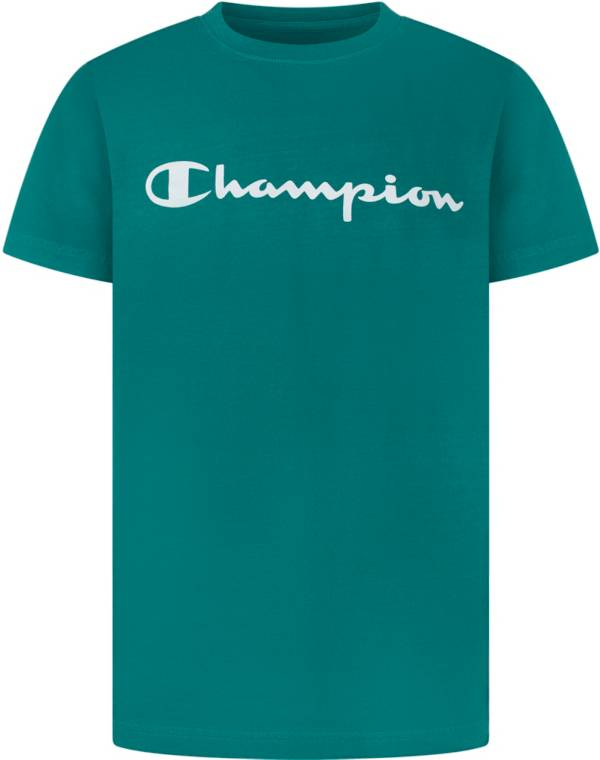 Champion Boys' Enzyme Washed Script T-Shirt product image