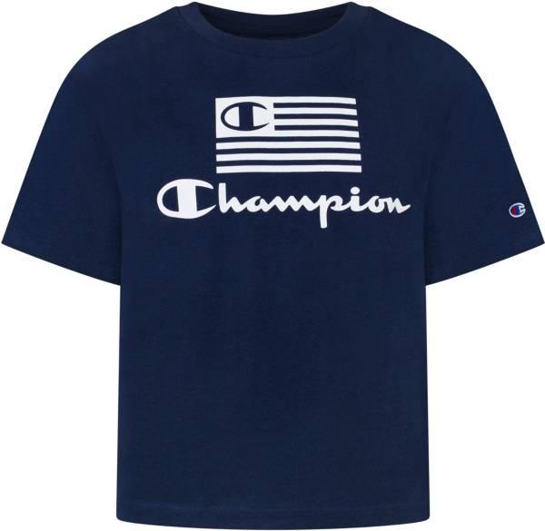 Champion Girls' Americana Flag Boxy Graphic T-Shirt product image