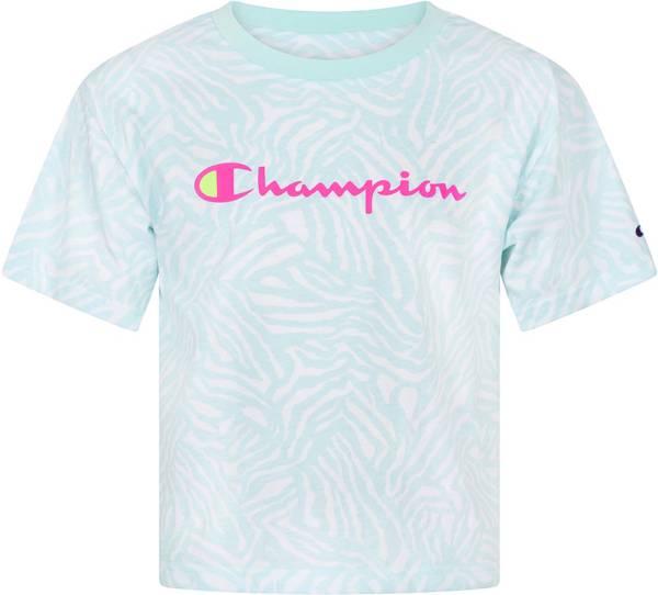 Champion Girls' Zebra Print Boxy T-Shirt product image