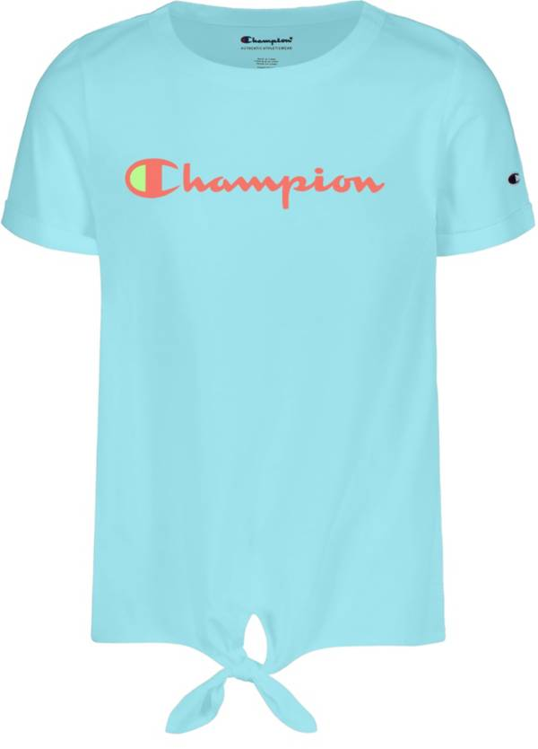 Champion Girls' Classic Script Tie Front T-Shirt product image