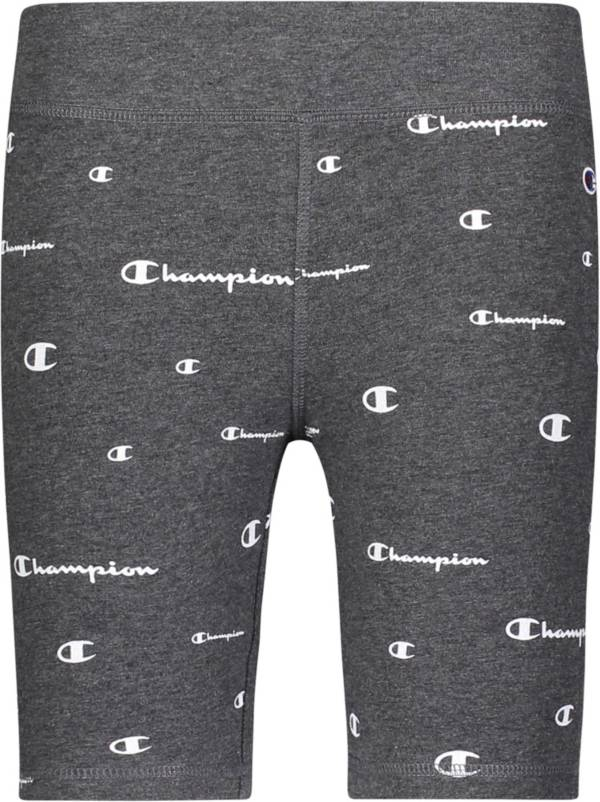 Champion Girls' All Over Logo Bike Shorts product image