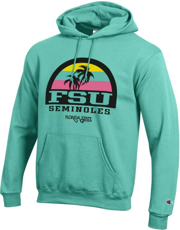 Champion Men's Florida State Seminoles Green 'Beach Collection' Pullover Hoodie product image