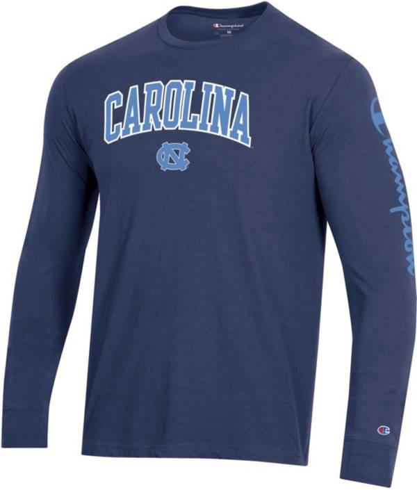Champion Men's North Carolina Tar Heels Navy Long Sleeve T-Shirt product image