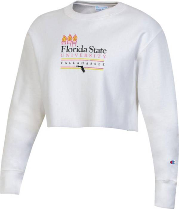 Champion Women's Florida State Seminoles 'Beach Collection' Cropped Pullover Sweatshirt product image
