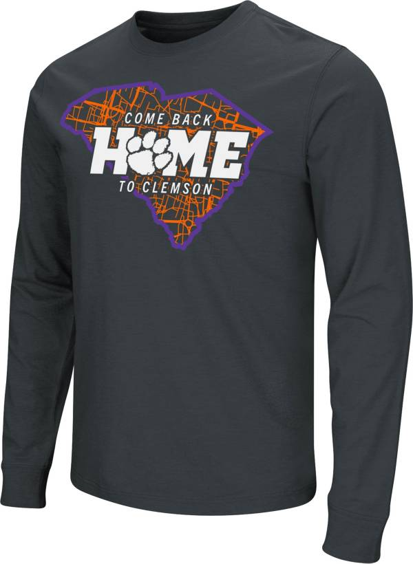 Colosseum Men's Clemson Tigers Black 'Come Back Home' Dual Blend Long-Sleeve T-Shirt product image