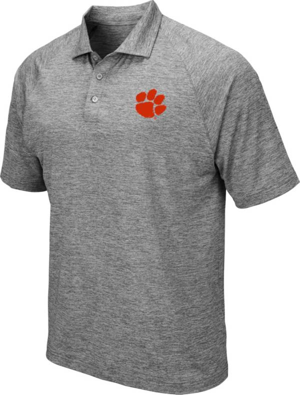 Colosseum Men's Clemson Tigers Grey Polo product image