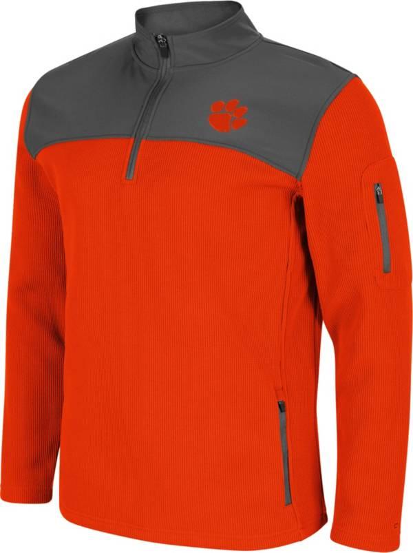 Colosseum Men's Clemson Tigers Orange Lemon Law Quarter-Zip Pullover Jacket product image
