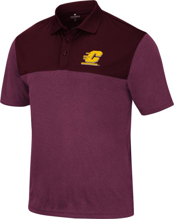 Colosseum Men's Central Michigan Chippewas Maroon Polo product image