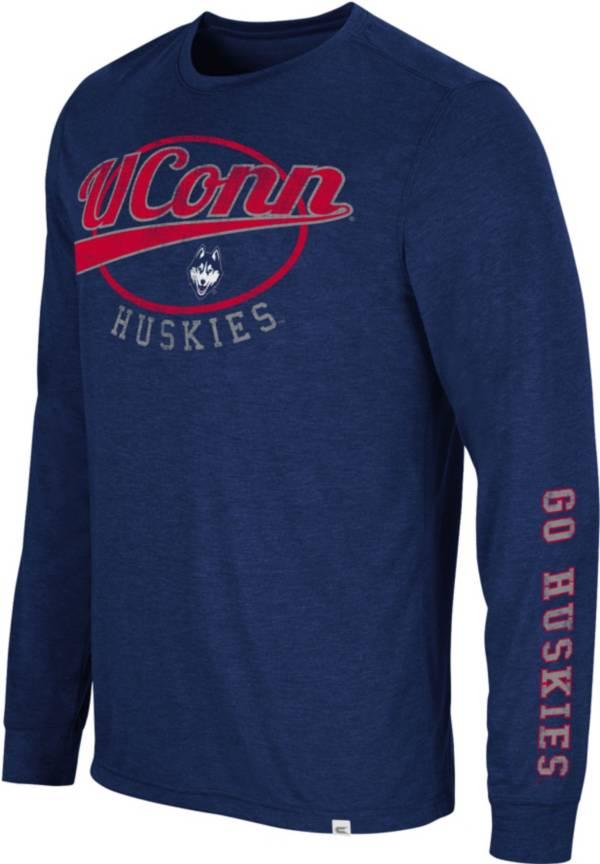 Colosseum Men's UConn Huskies Blue Far Out! Long Sleeve T-Shirt product image