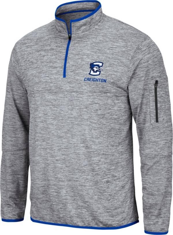 Colosseum Men's Creighton Bluejays Grey Quarter-Zip Pullover Shirt product image