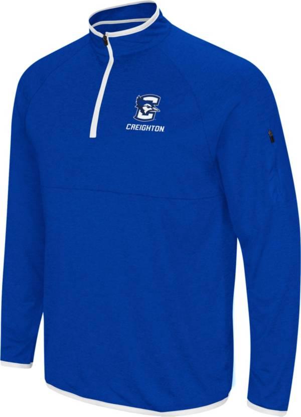 Colosseum Men's Creighton Bluejays Blue Rival Quarter-Zip Pullover Shirt product image