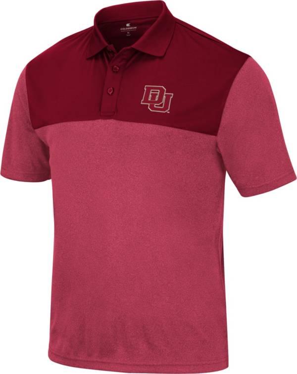 Colosseum Men's Denver Pioneers Crimson Polo product image