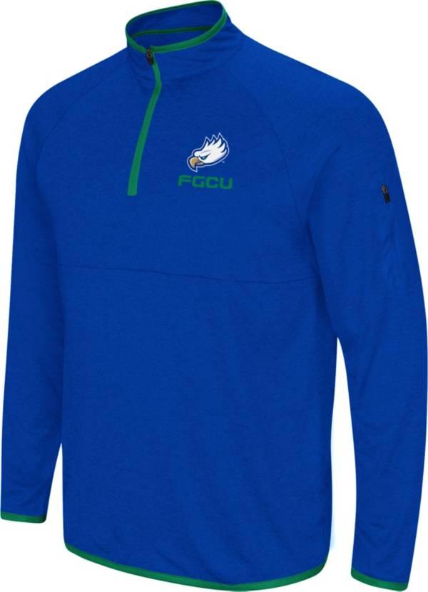 Colosseum Men's Florida Gulf Coast Eagles Colbalt Blue Rival Quarter-Zip Pullover Shirt product image