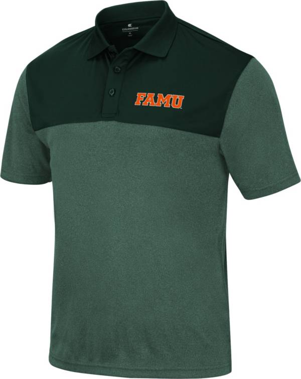 Colosseum Men's Florida A&M Rattlers Green Polo product image