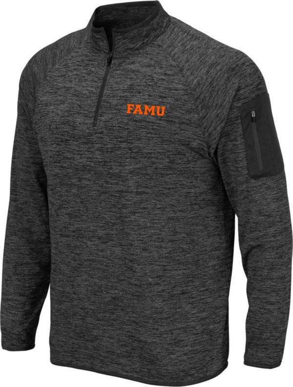 Colosseum Men's Florida A&M Rattlers Grey Quarter-Zip Pullover Shirt product image