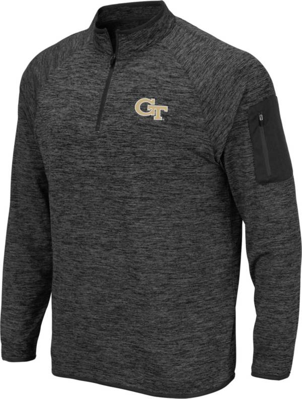 Colosseum Men's Georgia Tech Yellow Jackets Grey Quarter-Zip Shirt product image
