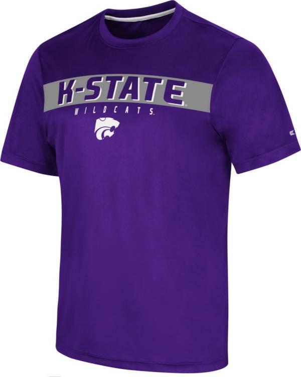 Colosseum Men's Kansas State Wildcats Purple Mosbius T-Shirt product image