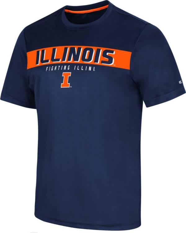 Colosseum Men's Illinois Fighting Illini Blue Mosbius T-Shirt product image