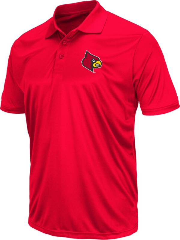 Colosseum Men's Louisville Cardinals Cardinal Red Polo product image