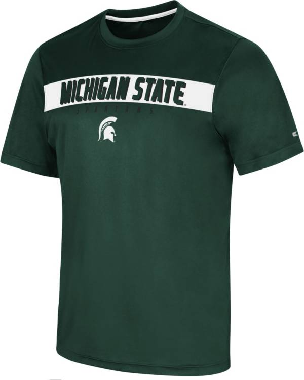 Colosseum Men's Michigan State Spartans Green Mosbius T-Shirt product image