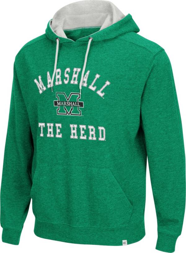 Colosseum Men's Marshall Thundering Herd Green Pullover Hoodie product image