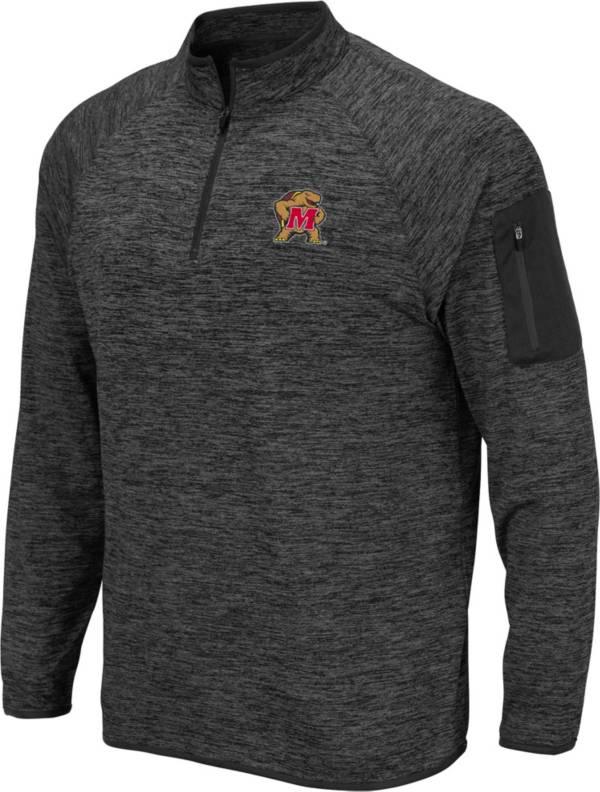 Colosseum Men's Maryland Terrapins Grey Quarter-Zip Shirt product image