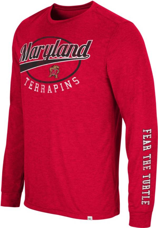 Colosseum Men's Maryland Terrapins Red Far Out! Long Sleeve T-Shirt product image