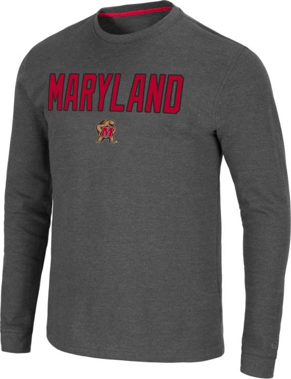 Colosseum Men's Maryland Terrapins Grey Dragon Long Sleeve Thermal T-Shirt product image