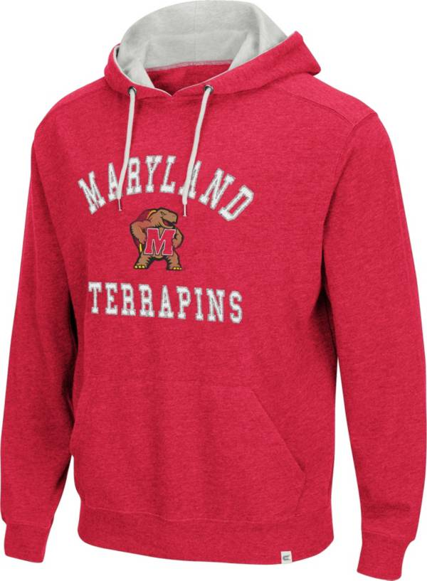 Colosseum Men's Maryland Terrapins Red Pullover Hoodie product image