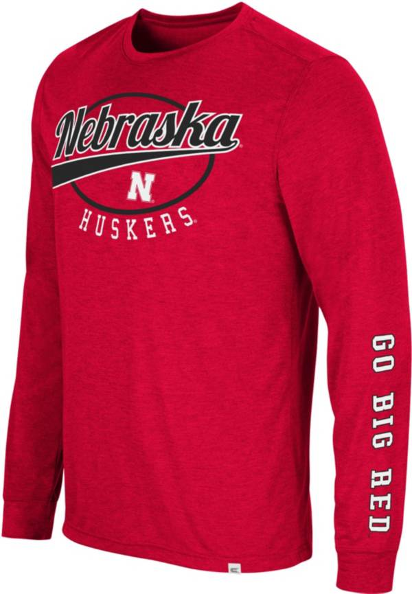 Colosseum Men's Nebraska Cornhuskers Scarlet Far Out! Long Sleeve T-Shirt product image
