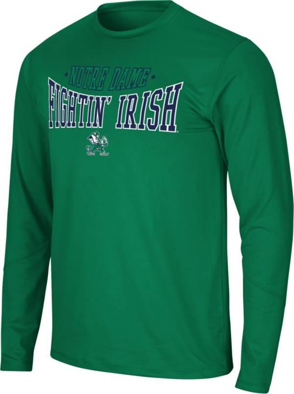 Colosseum Men's Notre Dame Fighting Irish Green Wordmark Long Sleeve T-Shirt product image