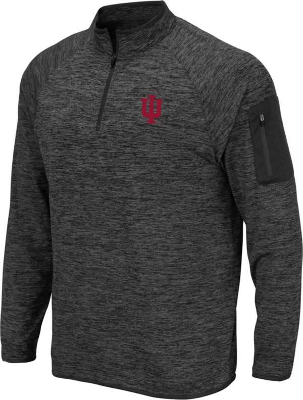 Colosseum Men's Indiana Hoosiers Grey Quarter-Zip Shirt product image