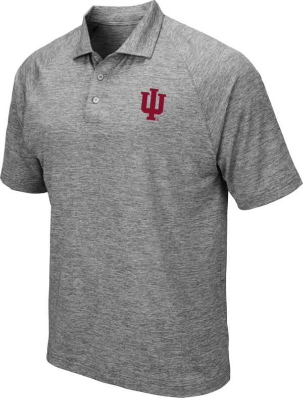 Colosseum Men's Indiana Hoosiers Grey Polo product image