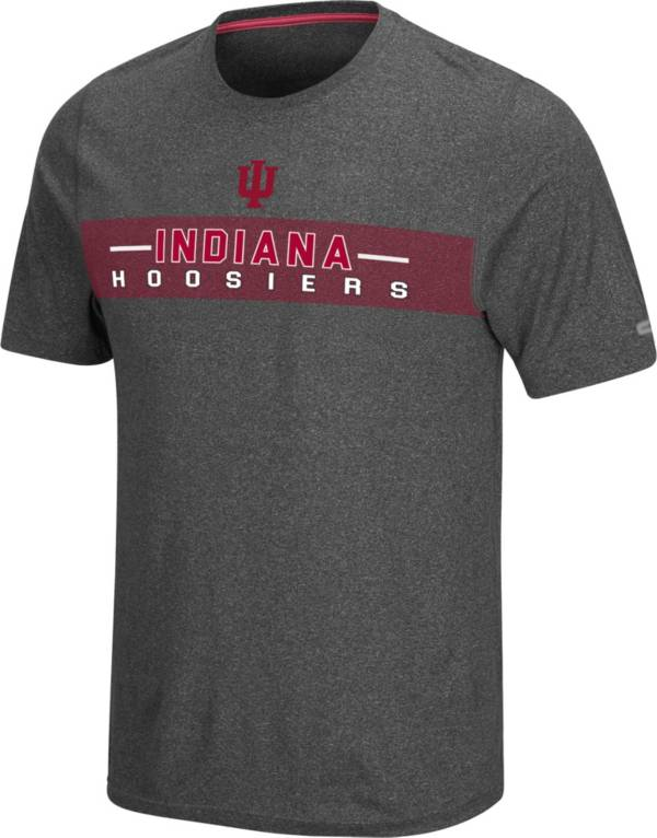 Colosseum Men's Indiana Hoosiers Grey Marty T-Shirt product image