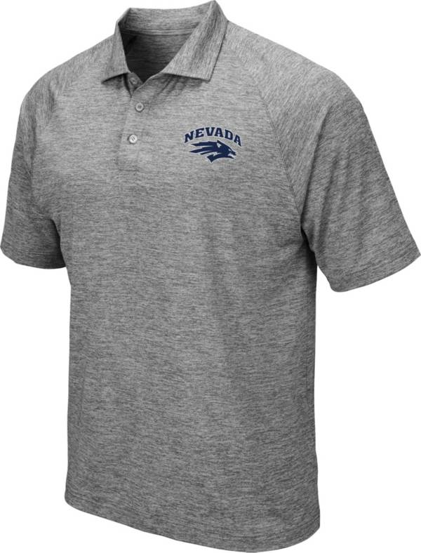 Colosseum Men's Nevada Wolf Pack Grey Polo product image